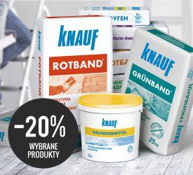 Promocja Knauf na wybrane kleje i zaprawy