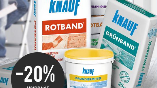 Knauf promotion on selected adhesives and grout